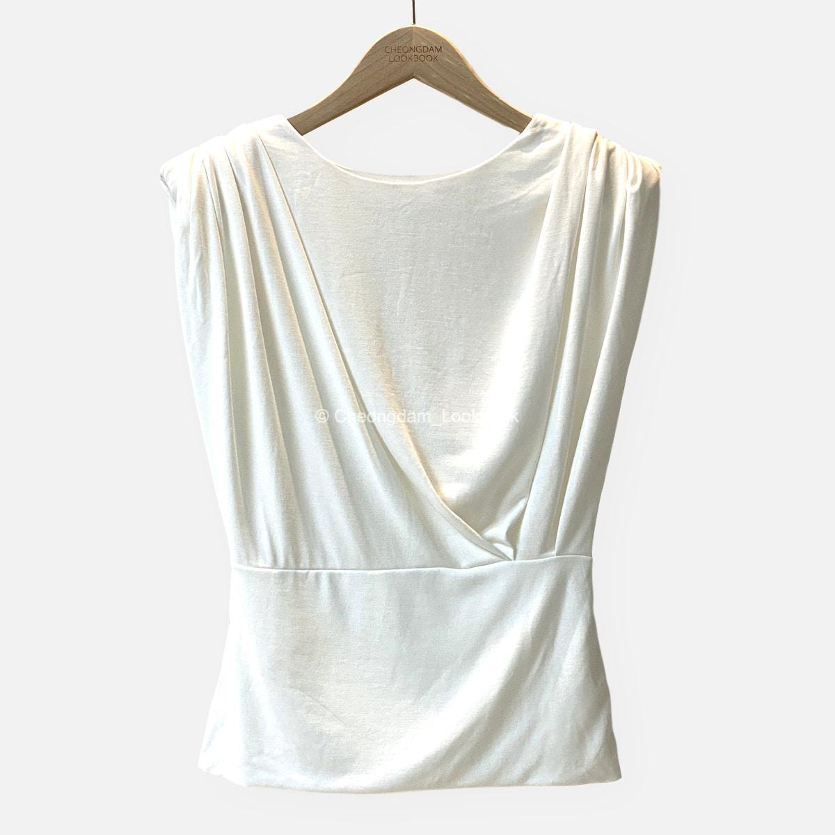 셔링 어깨 패드 민소매 FREE